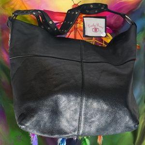 Large Lucky Brand Leather Hobo Bag